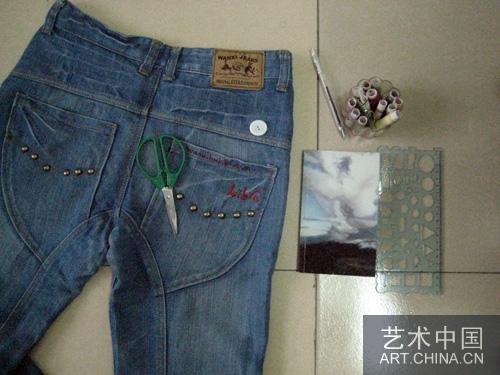 楼主(阅:442/回:0)手工diy:牛仔裤书皮详细教程; 【心灵手巧】:牛
