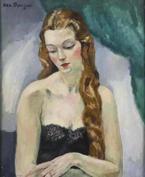 凡·东根《长发女肖像》