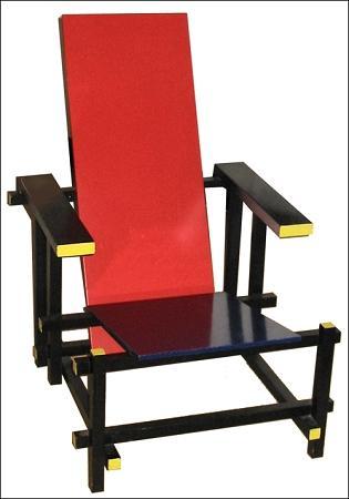 里特弗尔德设计的红蓝椅子是荷兰风格派代表作品