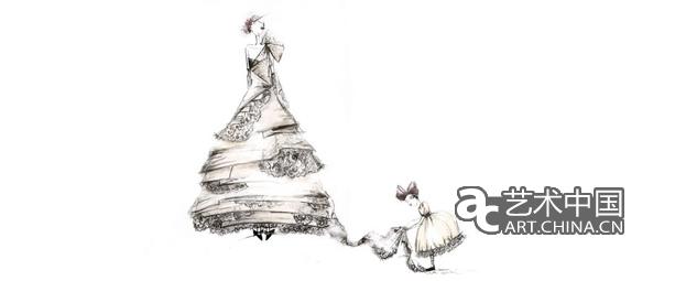 系列礼服设计图手稿展示图片