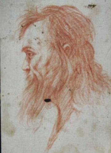这幅红色粉笔素描画被认为是达芬奇首幅素描作品