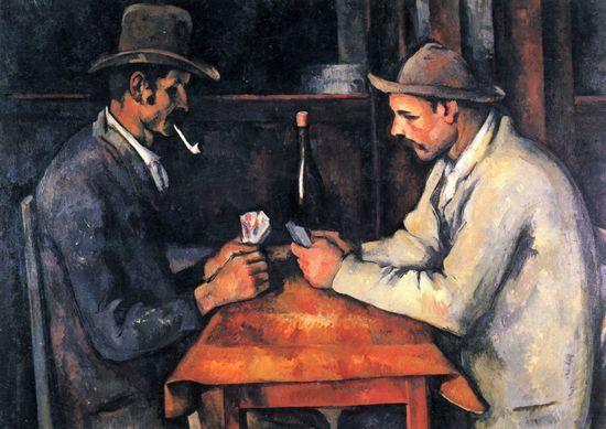 卡塔尔王室以超过2.5亿美元的价格买下保罗·塞尚的画作《玩牌者》中的一幅