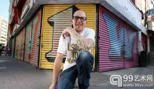 英国著名街头艺术家Ben Eine