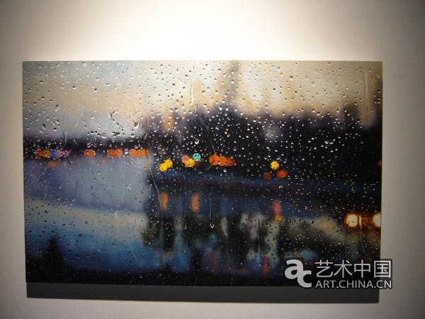 《雨中风景4》, 坦培拉,50x80cm