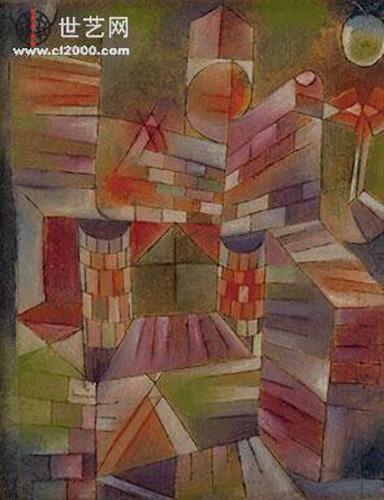 保罗克利在青少年时就画了很多植物,风景,建筑和城市.