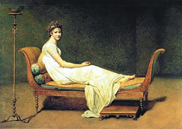 妃榻上有一朵绽放的花:《雷卡米耶夫人像》赏