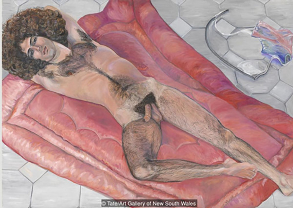西尔维娅 sylvia sleigh,《斜躺着的保罗·罗萨诺(paul rosano reclin