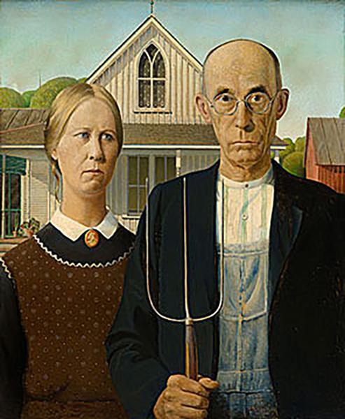 本次展览中最受期待的作品莫过于格兰特·伍德的《美国哥特》,这是它