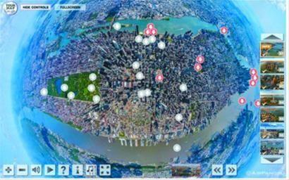 谢苗诺夫作的互动曼哈顿景图