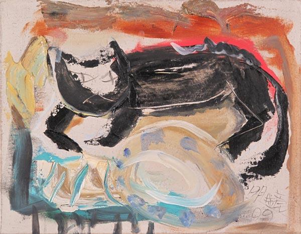 /enpproperty-->  《倦怠》 布面油画 60×50cm 明镜 2007  明镜小幅油画作品展 主办单位:北京红子兰艺术中心 Cocolan Art Center Of BeiJing 展览时间:2009年12月09日至2009年12月29日 营业时间:9:30-18:30(周二至周日) 展览地点:北京红子兰艺术中心 明镜的绘画以明亮的白色为基调,并佐以棕、褐、黄等暖灰色调构成画面是他一贯的也是特有的品格。但此次作品经过明镜的色彩调配试验,将暖灰色调转换为更加明朗高雅的