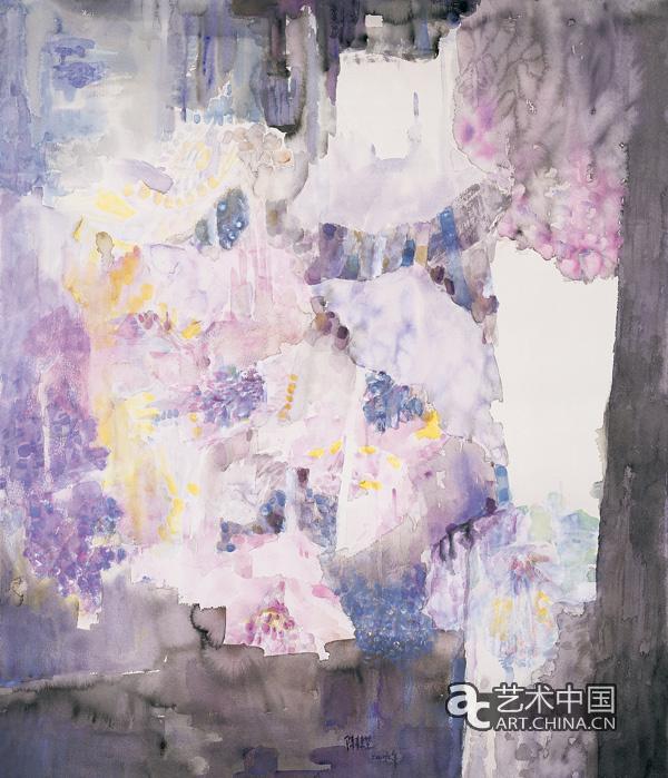 画作品展;; 野百合之三--水彩--74cm×90cm--2005年; 百合花水彩图片