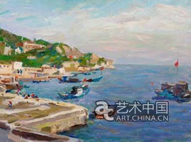 《水乡》风景系列以及《鱼》,《玉兰花》等静物油画成为他这一阶段的