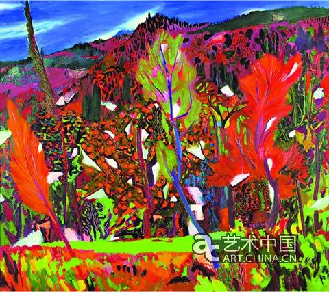 中国山水风景油画_山河之舞——王克举油画作品展将在济南举行(图)_艺术中国