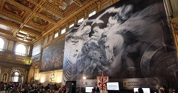作品 艺术 曾經創/达芬奇巨幅壁画《安吉里之战》或藏于墙壁...