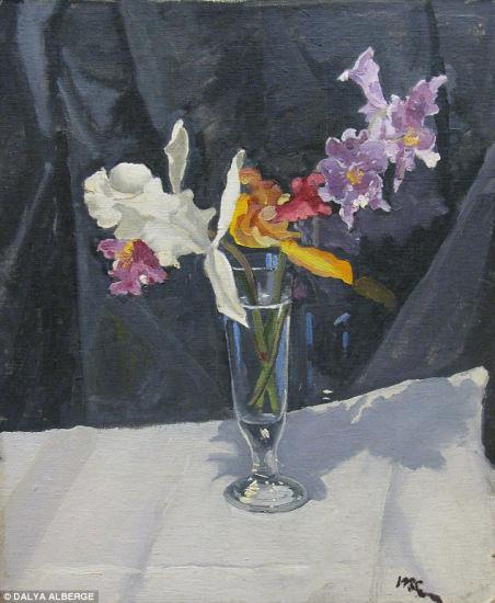 简单花卉油画步骤图解
