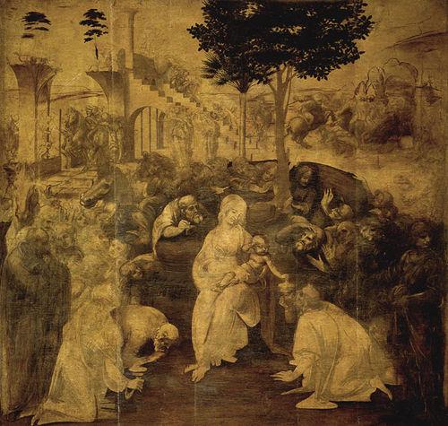 最大 佛罗伦萨/达·芬奇名作《贤士朝拜》,246 x 243 厘米佛罗伦萨乌菲齐美术馆...