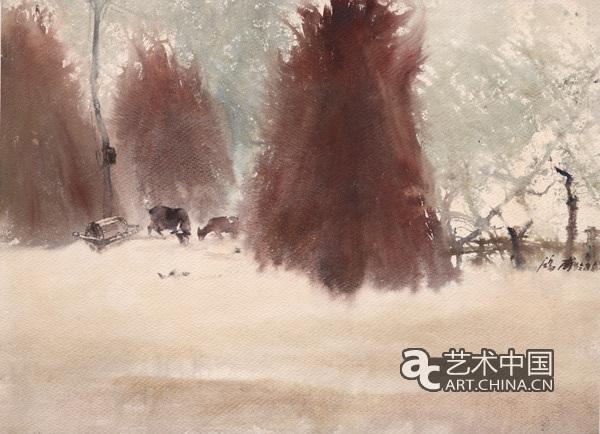 """中国美术馆举办""""风景的诗人:赵鸿甫水彩画展"""""""