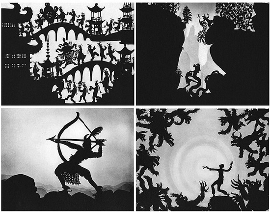 /enpproperty-->  卡拉沃克的剪纸装置作品在纽约现代艺术博物馆展出  洛特莱妮格尔1926年的剪纸动画片即使在今天也一点不过时 剪纸利用视觉的正负空间,提供的是一种想像的维度和张力。 如果仅仅按照地域划分的话,剪纸在中国悠久的历史可以追溯到汉代。从民间到宫廷,以镂空、雕、刻、剪、剔、拼等技法创作出的窗花门神,以至于近几十年才衰落的皮影戏,都是剪纸艺术的延伸。这些宝贵的文化资产,在展示古人们丰富想像力和精湛技法的同时,或许也承载了传统禁锢创新的惯性框架。近年来除了少数艺术家在创作方面进行了