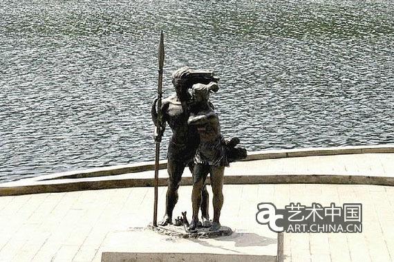 中国 雕塑/雕像《盐水情爱》...