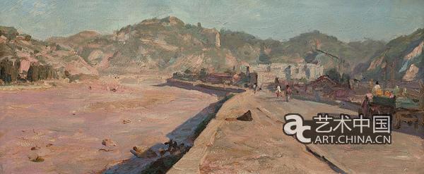 中国梦形意 油画