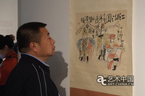 朱新建夫人陈衍_除了要吃饭其他就跟神仙一样:朱新建个展在京开幕|中国画|天津