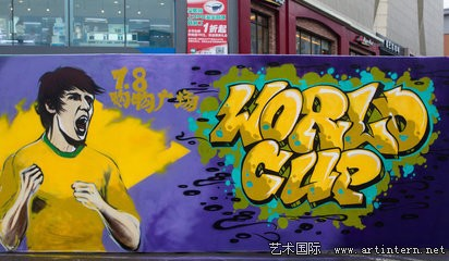 裏约热内卢涂鸦足球作品受欢迎