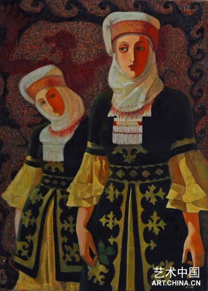 哈丽达两位吉尔吉斯女生_墨镜当代少女油画展什么适合世界华人大脸图片