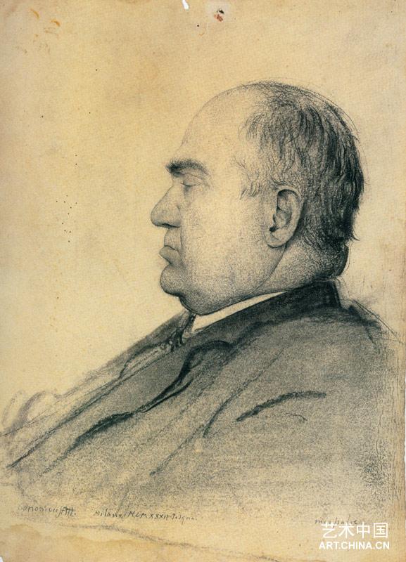 父亲肖像 素描图片
