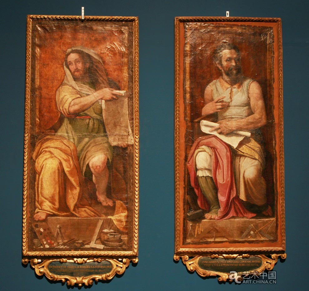 先知形象的拉斐尔和摩西形象的米开朗基罗