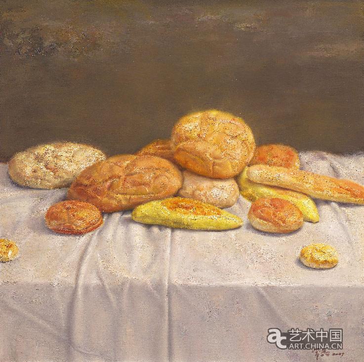 面包 常磊 80 cm×80 cm 布面油画 2009年