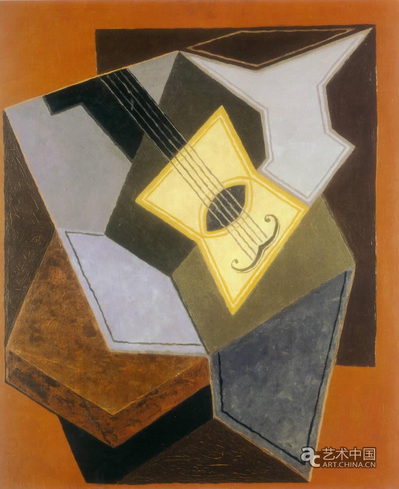 艺术 西班牙/胡安·格里斯 吉他和水果盘1926~1927年/ 布面油画/ 73x60cm