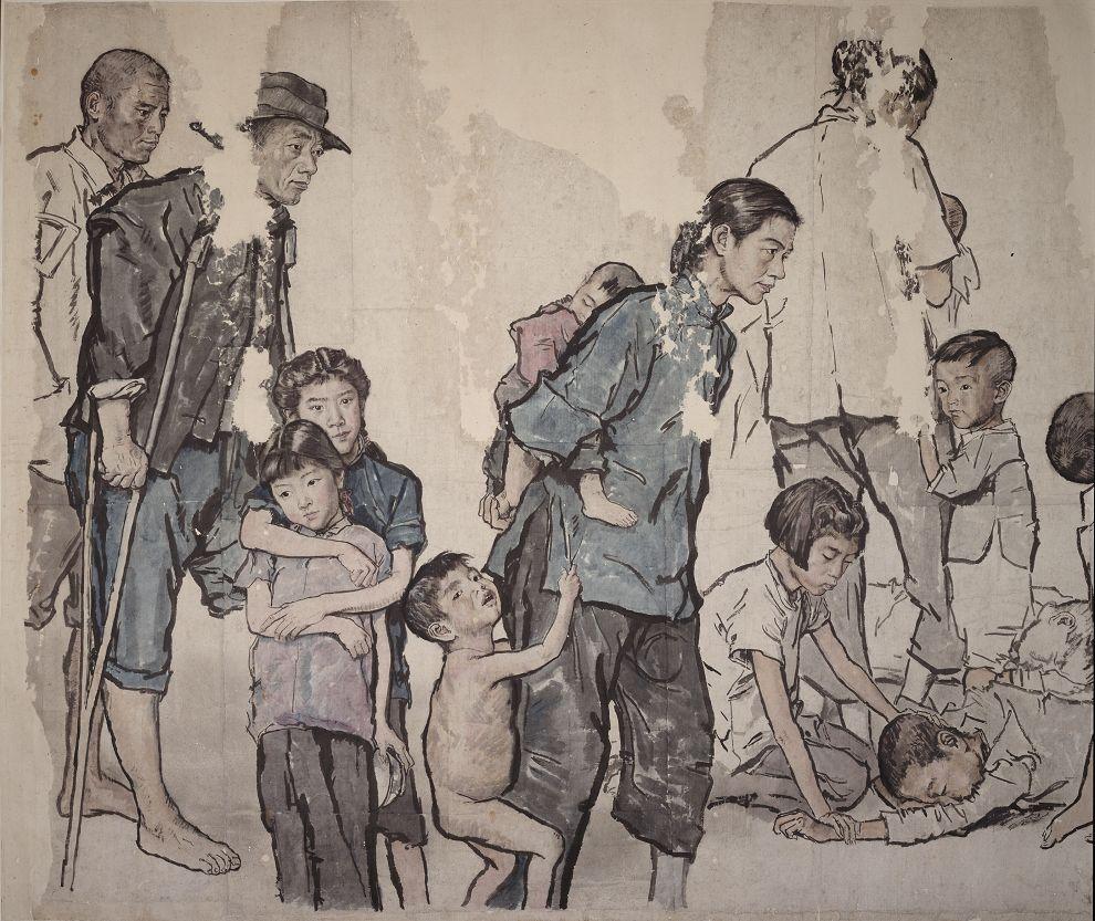 蒋兆和,流民图之一 国画 艺术中国