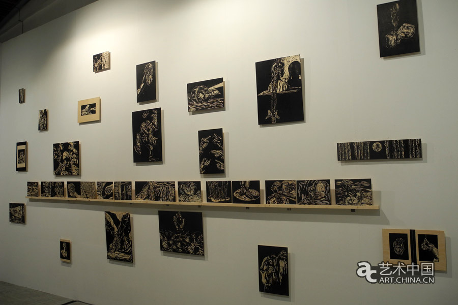 中国 作品 画廊/中国画廊展示的木刻版画作品