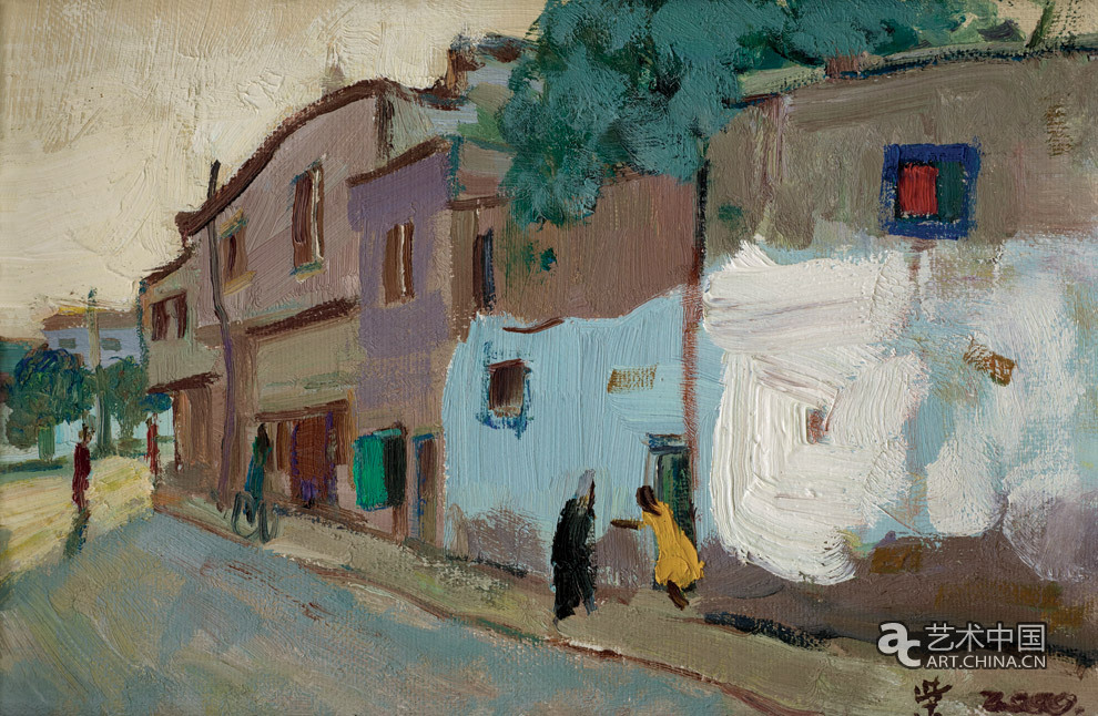 中国美协油画写生视频_柴新春 喀什老城写生_作品图片_艺术中国