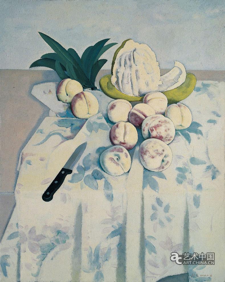 四九画廊-王羽天-柚子和桃