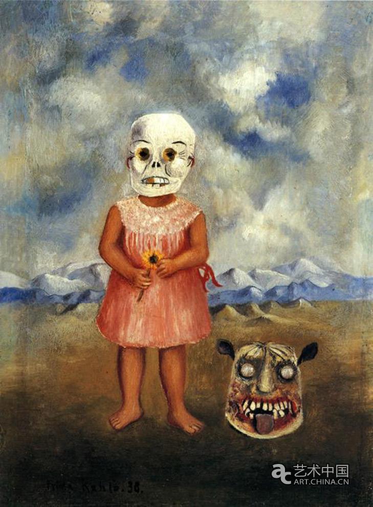 女孩 作品 就是/带着死亡面具的女孩1938