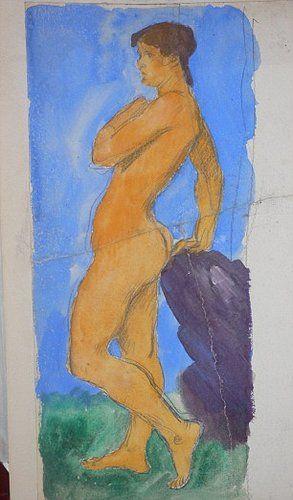 泰勒裸体油画曝光拍卖估价800英镑_艺术中国