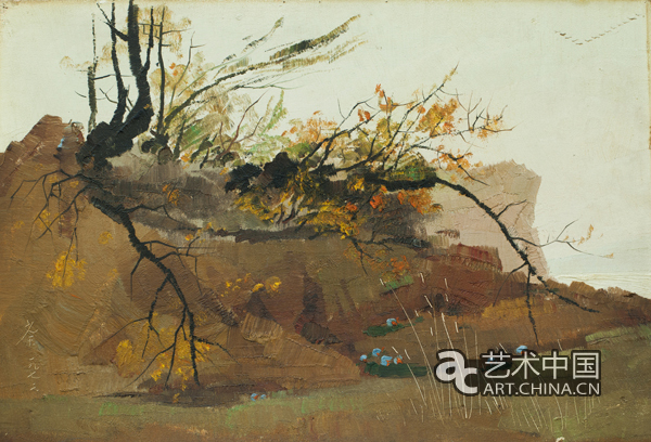 油画写实立体树枝