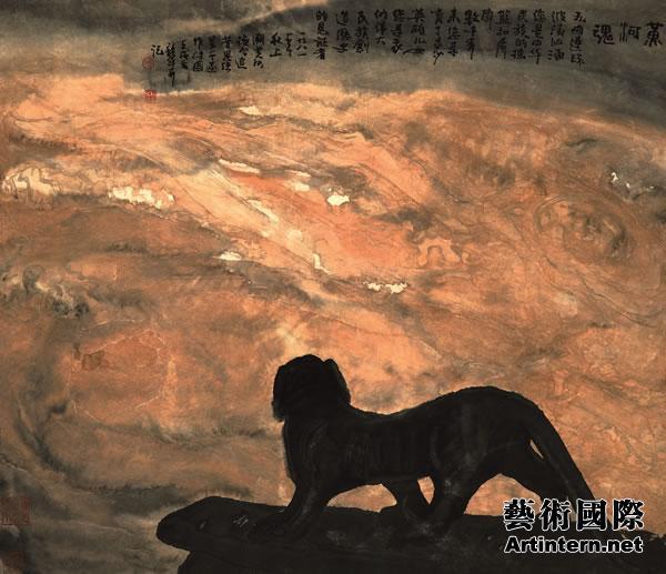 开始钻研中国水墨山水画,他出生于大海之滨,又曾在武当山脚下生活多年