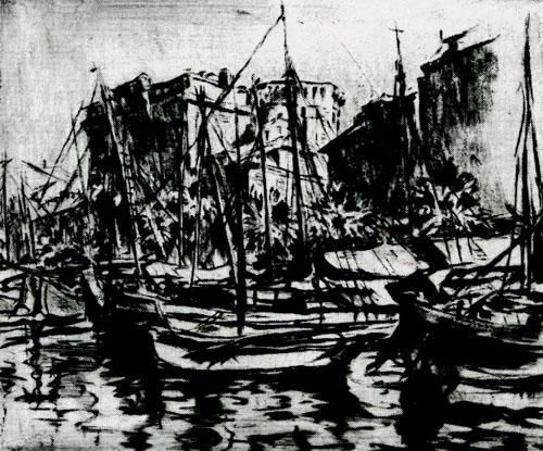 保加利亚,乌克兰,阿尔及利亚等国艺术家创作的铜版画,石版画,木刻版画