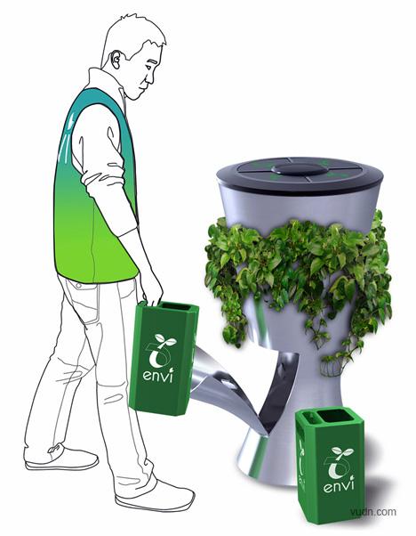 垃圾桶设计_垃圾桶设计创意效果图_户外创意垃圾桶设计