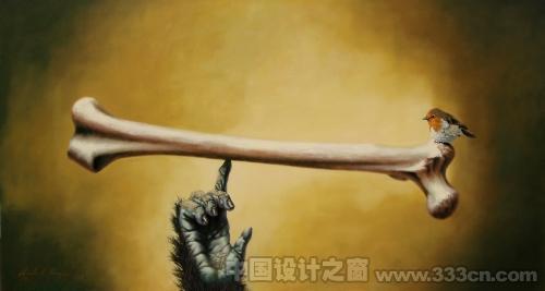 神奇的动物元素插画_艺术中国