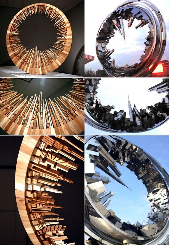 不锈钢雕塑圆环