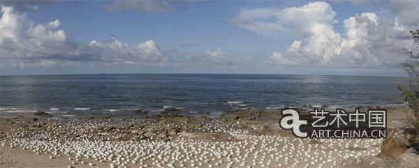 广西北海冠头岭海滩,200x80cm,照片,数码微喷,2013