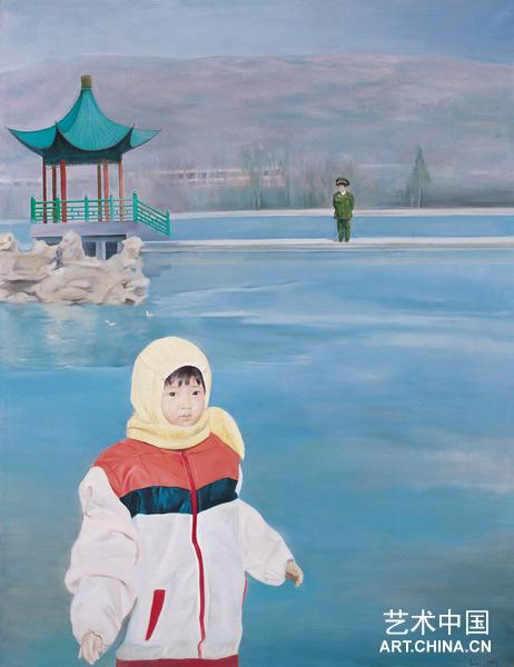卢曦/卢曦LU Xi 对岸The Opposite Bank 布面油画2007 172x130cm