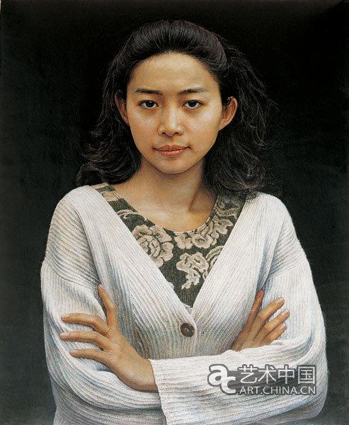 刘孔喜/《布兰》刘孔喜木板·坦培拉绘画 61cm×50cm 1996年