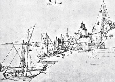 绘制的那些非常美丽的风景画背景,以及他用银尖笔或钢笔绘制的素描画.