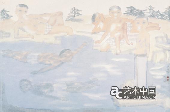 童年.泉影-49x69cm-2010年图片