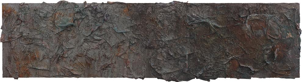 《书卷》四--90x360cm--木质构造、宣纸、矿物·植物·土质颜料-、金银粉、金属渣--2017年.jpg