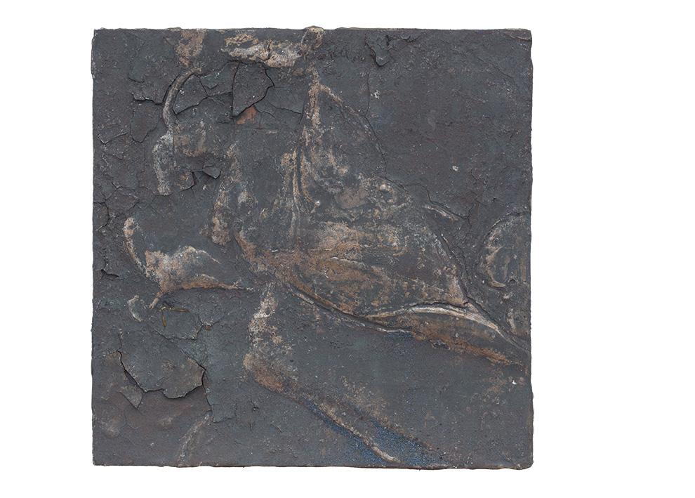 《水银沁》四--50x50cm--木质构造、麻纸、矿物·植物·土质颜料、箔--2016年-.jpg